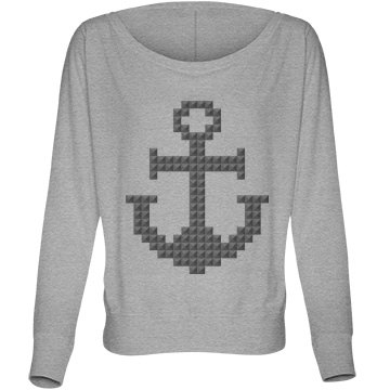Pyramid Stud Anchor Bella Flowy Lightweight Long Sleeve Dolman Tee