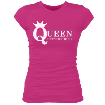 Queen Of Everything Tee Junior Fit Bella Sheer Longer Length Rib Tee