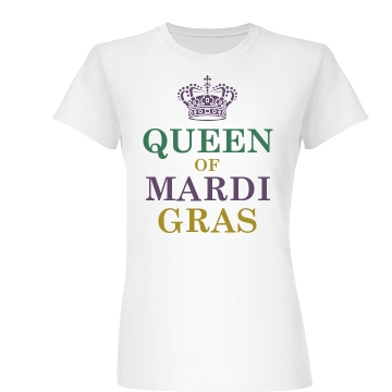 Queen Of Mardi Gras Junior Fit Basic Bella
