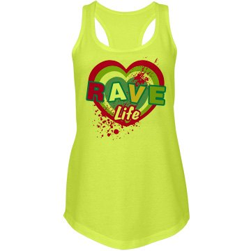 Rave Life Junior Fit Next Level Racerback Terry Neon Tank Top