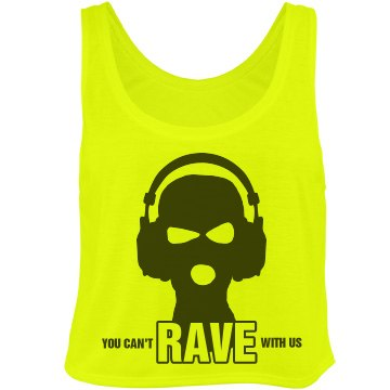 Rave with Us in Neon Bella Flowy Boxy Lightweight Crop Top Tank Top