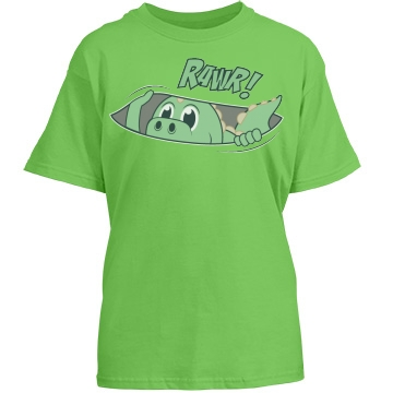 Rawr Dinosaur Youth Gildan Heavy Cotton Crew Neck Tee