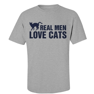 Real Men Love Cats Unisex Basic Port & Company Essential Tee
