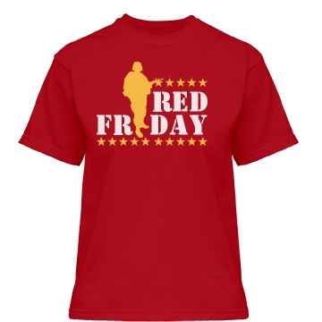 Red Friday Graphic Tee Misses Relaxed Fit Gildan Heavy Cotton Tee