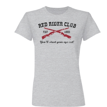Red Rider Distressed Junior Fit Basic Bella Favorite Tee