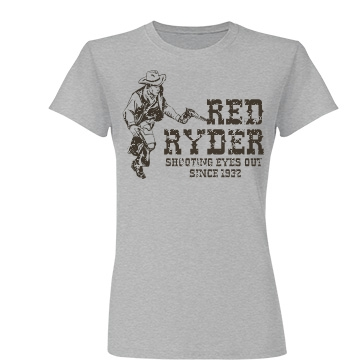 Red Ryder Junior Fit Basic Tultex Fine Jersey Tee