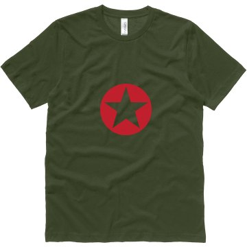 Red Star Military Tee Unisex Canvas Jersey Tee