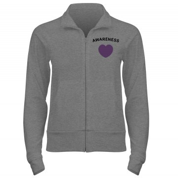 Remember Alzheimers w/ Bk Junior Fit Bella Cadet Full Zip Track Jacket