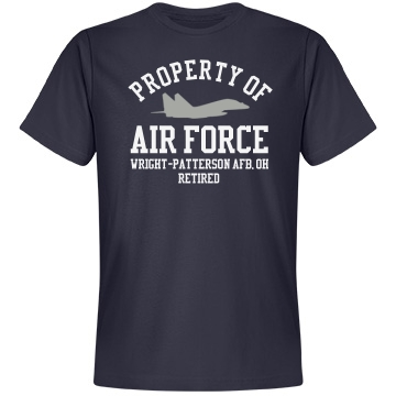 Retired from Air Force Unisex Anvil Lightweight Fashion Tee