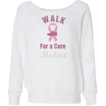 Rhinesone Walk Sweatshirt Junior Fit Bella Triblend Slouchy Wideneck Sweatsh