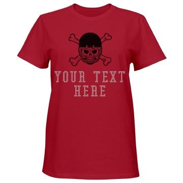 Rhinestone Text Football