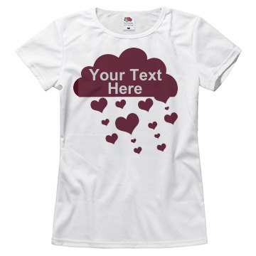 Rhinestone Text Love Rain