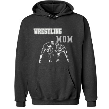 Rhinestone Wrestling Mom Unisex Hanes Ultimate Cotton Heavyweight Hoodie