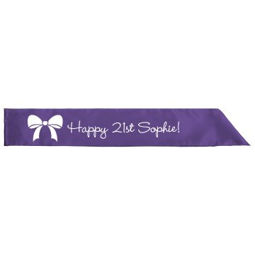 Ribbon 21st Birthday Sash
