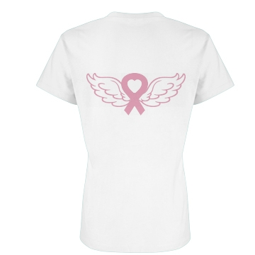 Ribbon Angel Wings Junior Fit Basic Bella Favorite Tee