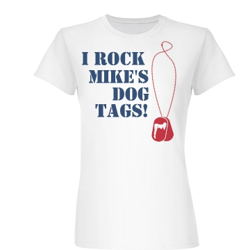 Rock Mike's Dog Tags Junior Fit Basic Bella Favorite Tee