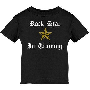 Rock Star In Training Infant Rabbit Skins Cotton Tee