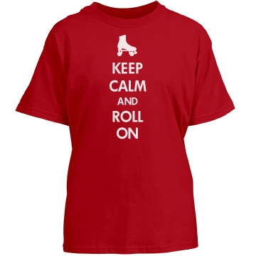 Roll On Derby Tee Youth Gildan Heavy Cotton Crew Neck Tee
