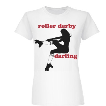 Roller Derby Darling Tee Junior Fit Basic Bella Favorite Tee