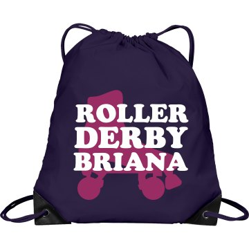 Roller Derby Name Bag Port & Company Drawstring Cinch B
