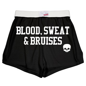 Roller Derby Text w/ Back Junior Fit Soffe Cheer Shorts