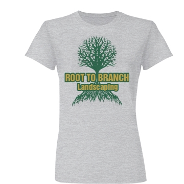 Root Branch Landscaping Junior Fit Basic Bella Favorite Tee