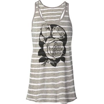Roses Graphic Tank Top Bella Flowy Lightweight Racerback Tank Top