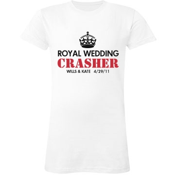 Royal Wedding Crasher Junior Fit LA T Fine Jersey Tee