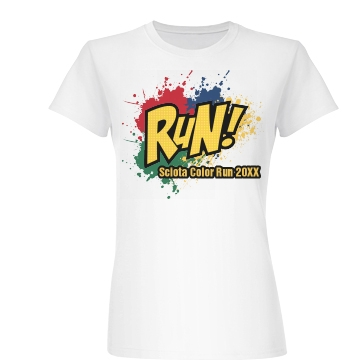 Run Color Splat  Junior Fit Basic Bella Favorite Tee