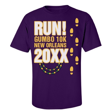 Run For Gumbo Unisex Gildan Heavy Cotton Crew Neck Tee