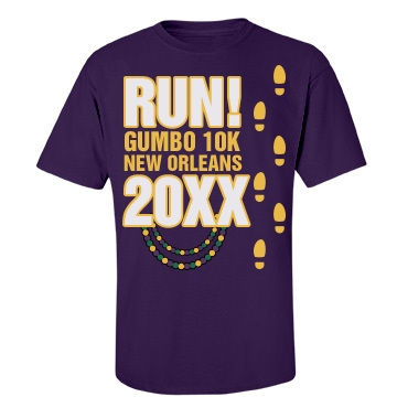 Run For Gumbo Unisex Port & Company Essential Tee