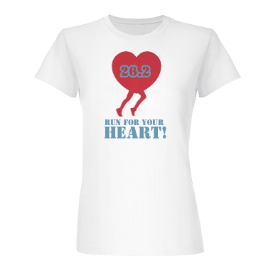 Run For Your Heart Junior Fit Basic Bella Favorite Tee