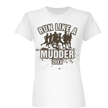Run Like A Mudder Junior Fit Basic Bella Favorite Tee