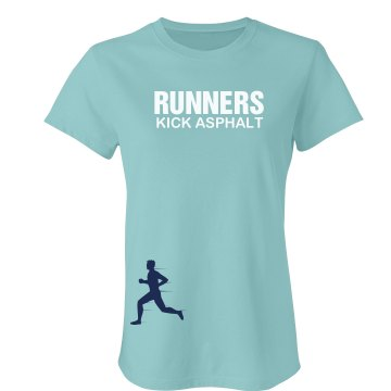 Runners Kick Asphalt Junior Fit Bella Favorite Tee
