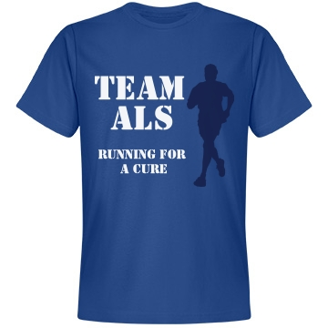Running For A Cure ALS Unisex Anvil Lightweight Fashion Tee