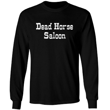 Saloon Bar Security w/ Bk Unisex Gildan Heavy Cotton Long Sleeve Tee