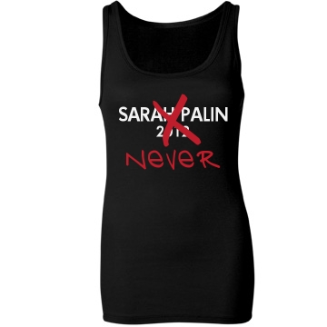 Sarah Palin Never Junior Fit Bella Sheer Longer Length Rib Tank Top
