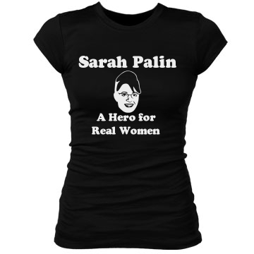 Sarah Palin-Hero Junior Fit Bella Sheer Longer Length Rib Tee
