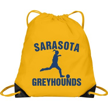Sarasota Girls Soccer Bag Port & Company Drawstring Cinch Bag