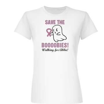 Save The Boobies Junior Fit Basic Bella Favorite Tee