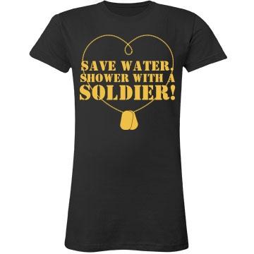 Save Water Soldier Shower