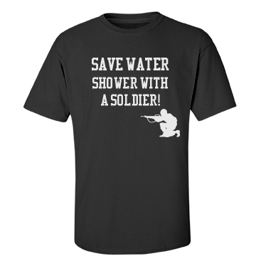 save water... Unisex Gildan Heavy Cotton Crew Neck Tee