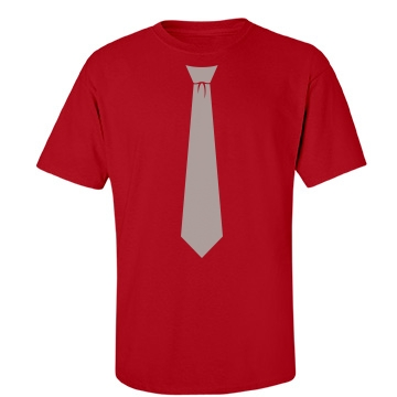 Scarlet & Grey Neck Tie Unisex Gildan Heavy Cotton Crew Neck Tee