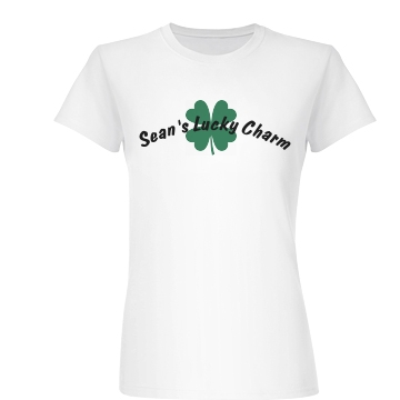 Sean's Lucky Charm Junior Fit Basic Bella Favorite Tee