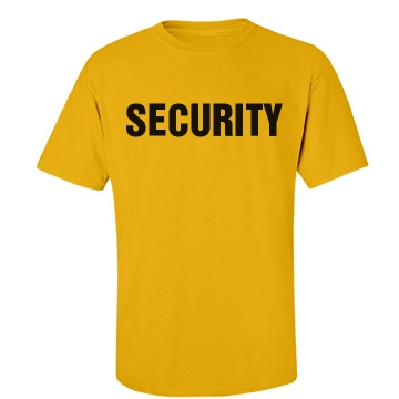 Security Tee w/ Back Unisex Gildan Heavy Cotton Crew Neck Tee
