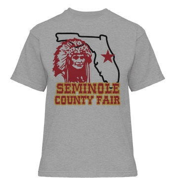 Seminole County Fair  Misses Relaxed Fit Basic Gildan Heavy Cotton T