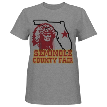 Seminole County Fair  Misses Relaxed Fit Port & Company Basic Tee