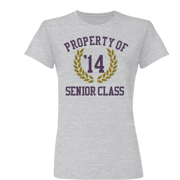 Senior Class School Color Junior Fit Basic Bella Favorite Tee