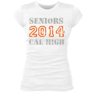 Seniors 2014 Distressed Junior Fit Bella Sheer Longer Length Rib Tee