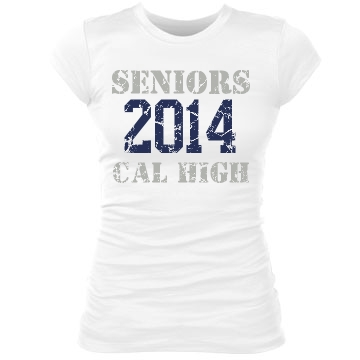 Seniors 2014 Junior Fit Bella Sheer Longer Length Rib Tee